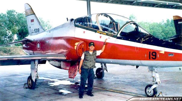 Spirit 85 aerobatic team Hawk Mk.53 aircraft