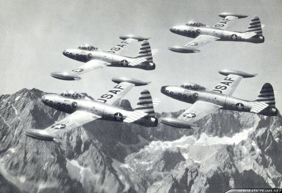 Skyblazers F-84E Thunderjet, from Sept 1950 to 1953