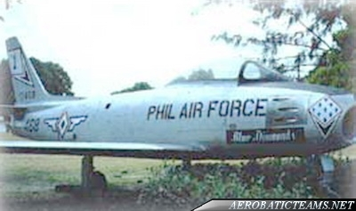 Blue Diamonds F-86 Sabre from 1958 to 1966