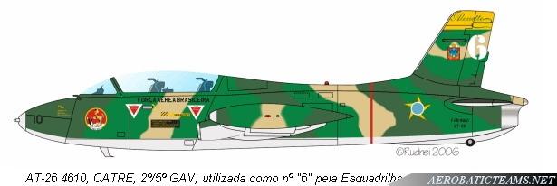 Esquadrilha Alouette Aermacchi MB326 paint scheme