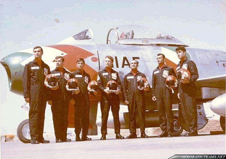 Golden Crown F-86 Sabre pilots