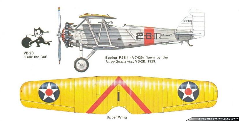 US NAVY Three Sea Hawks Boeing F2B paint scheme