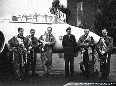 RAF Meteorites Pilots. Photo from Master Pilot  D.Fisher collection via A. Fisher