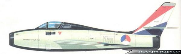 Whiskey Four F-84F Thunderstreak paint scheme