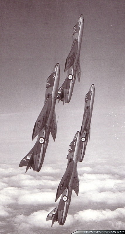 RAF Black Knights Hawker Hunter F1. 54th Squadron Aerobatic Display Team