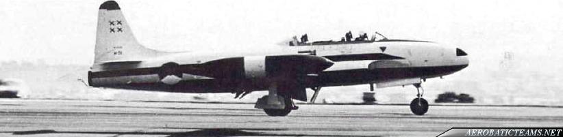 Whiskey Four T-33 T-bird, 1966 paint scheme