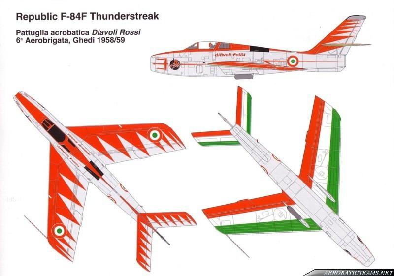 Diavoli Rossi F-84F Thunderstreak 1957 paint scheme