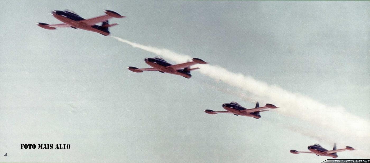 Sao Jorge F-84G Thunderjet. Second black-red paint scheme.