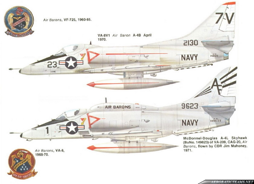 Air Barons A-4 Skyhawk paint schemes