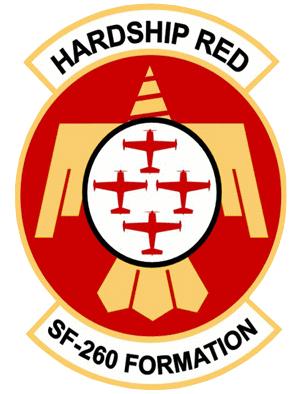 Hardship Red aerobatic team logo