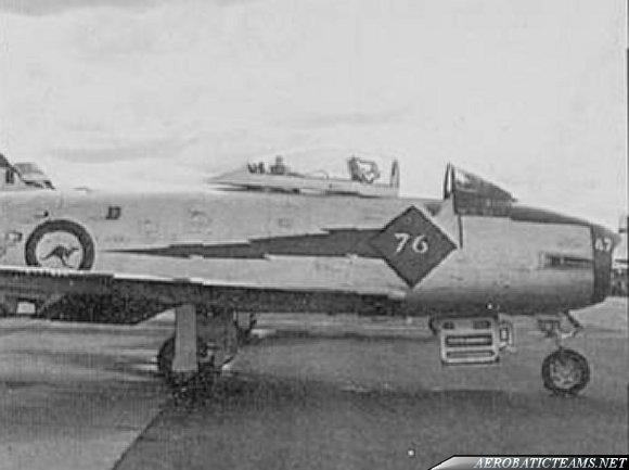 RAAF Red Diamonds CA-27 Mk.31 Sabre