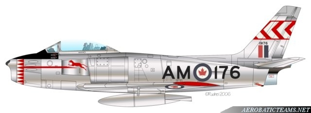Blue Devils Canadair F-86 Sabre livery