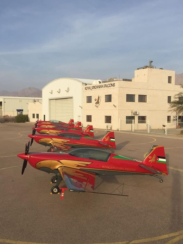 Royal Jordanian Falcons Extra 330LX. Photo teams facebook page