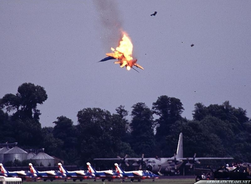 Test Pilots MiG-29 Fulcrum. Fairford 1993 crash