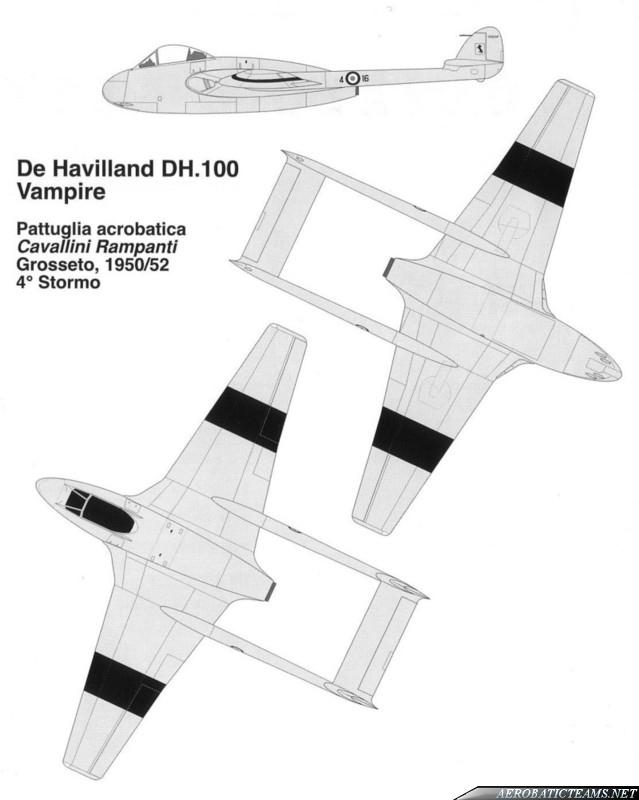 Cavallini Rampanti de Havilland Vampire MB Mk.51 paint scheme