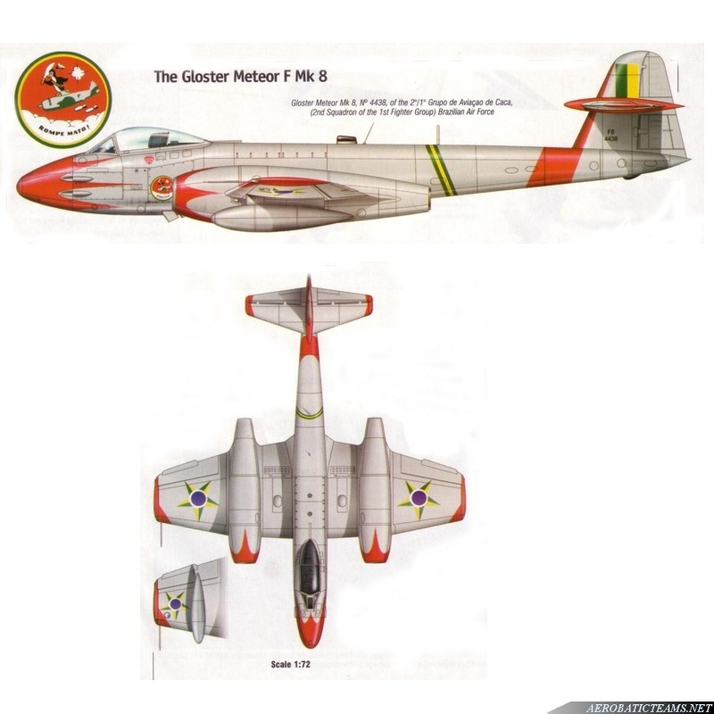 Pif-Paf Team Gloster Meteor F8 paint scheme