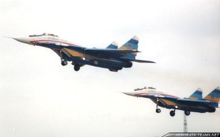 Ukrainian Falcons MiG-29 first paint scheme from 1996 to 1999