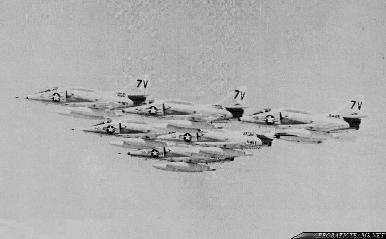 Air Barons A-4L Skyhawk at air show at Ohio in 1971.