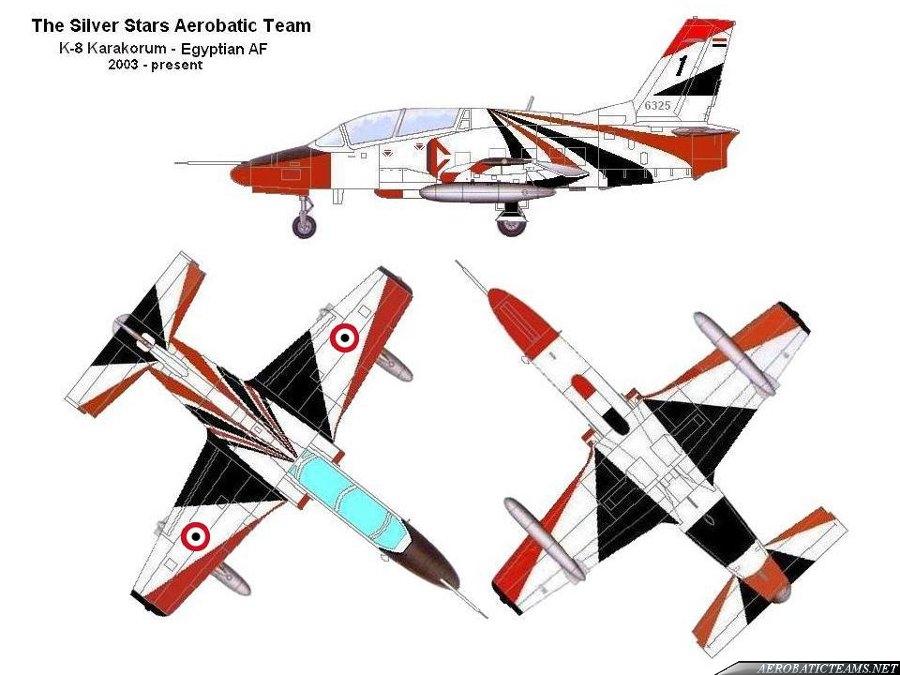 Silver Stars K-8E Karakorum paint scheme. Via Tony R