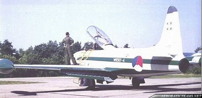 Whiskey Four T-33 T-bird, 1966 paint scheme
