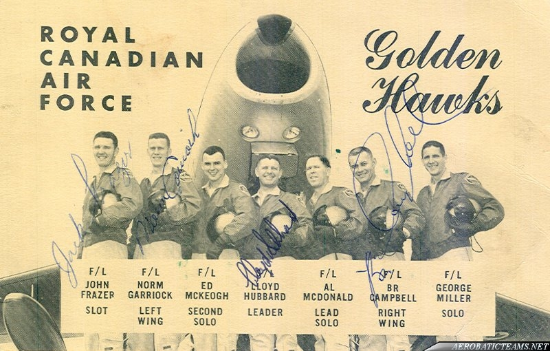 Golden Hawks Pilots autographs. (Photo via Dave Senft)