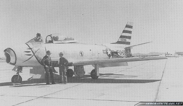 Sabre Knights F-86F Sabre flown in 1954