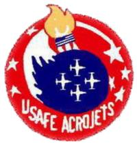 USAFE Acrojets Logo
