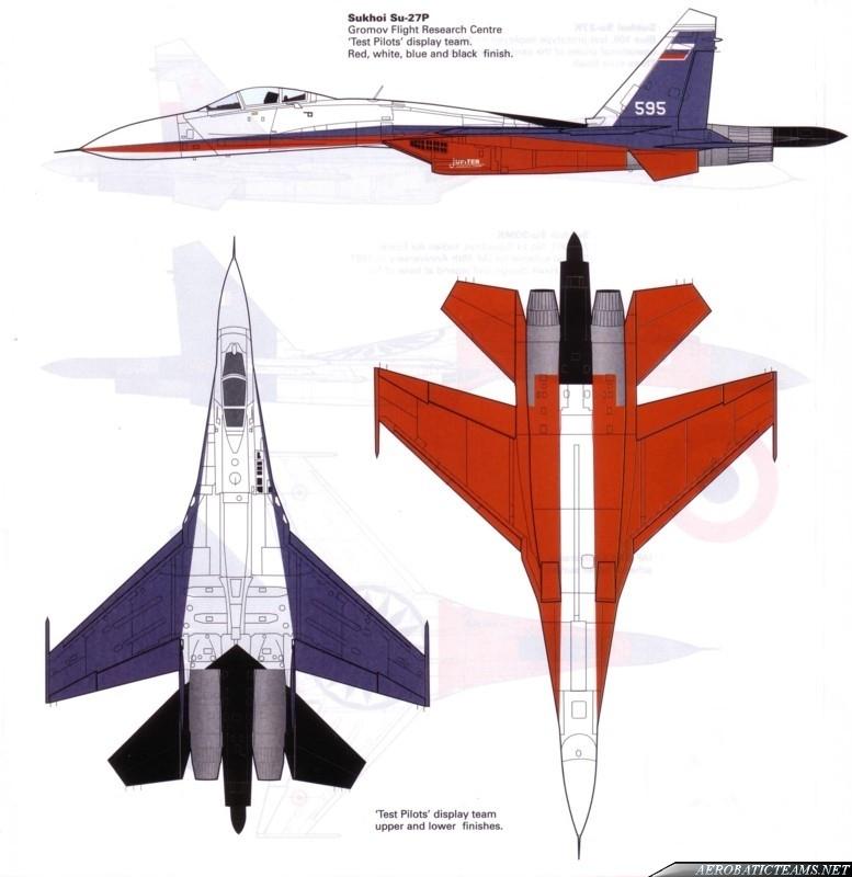 Test Pilots Su-27 paint scheme