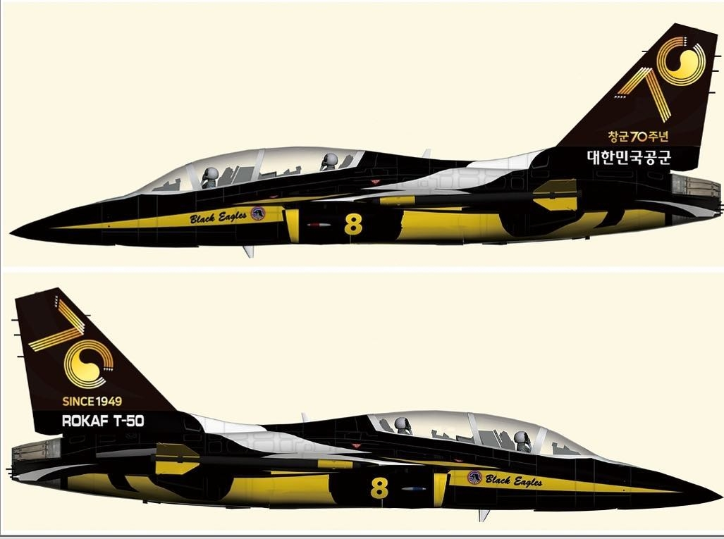 Black Eagles add a new emblem to the aircraft tail