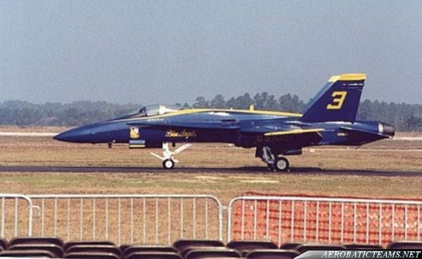 Blue Angels Hornet skidded of the runway
