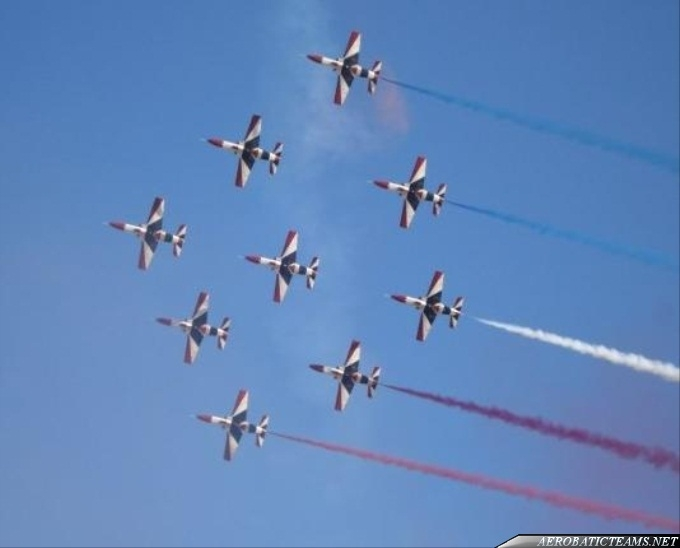 Silver Stars performed over Cairo