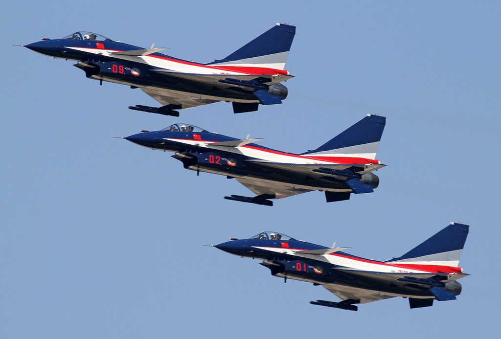 China's August 1st Display Team fly J-10