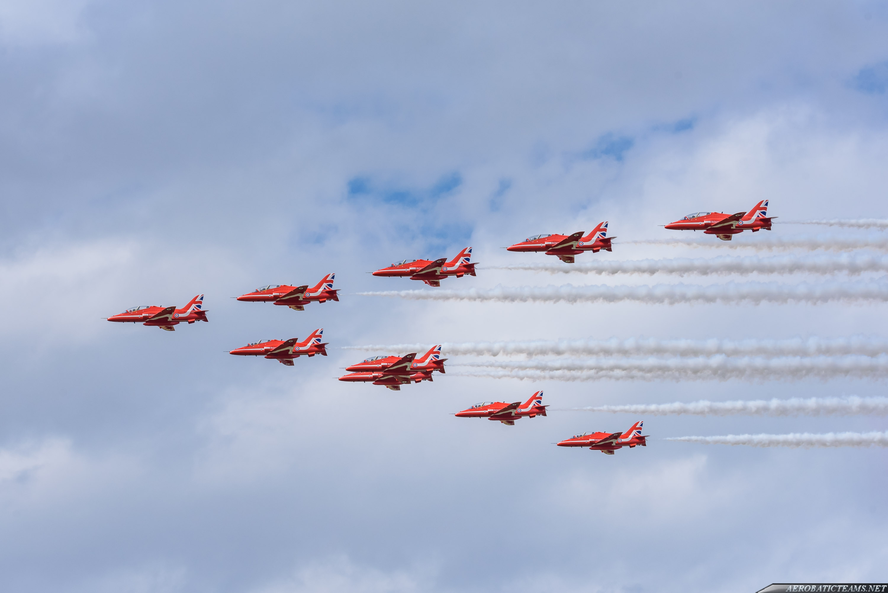 Red Arrows departure to Asia