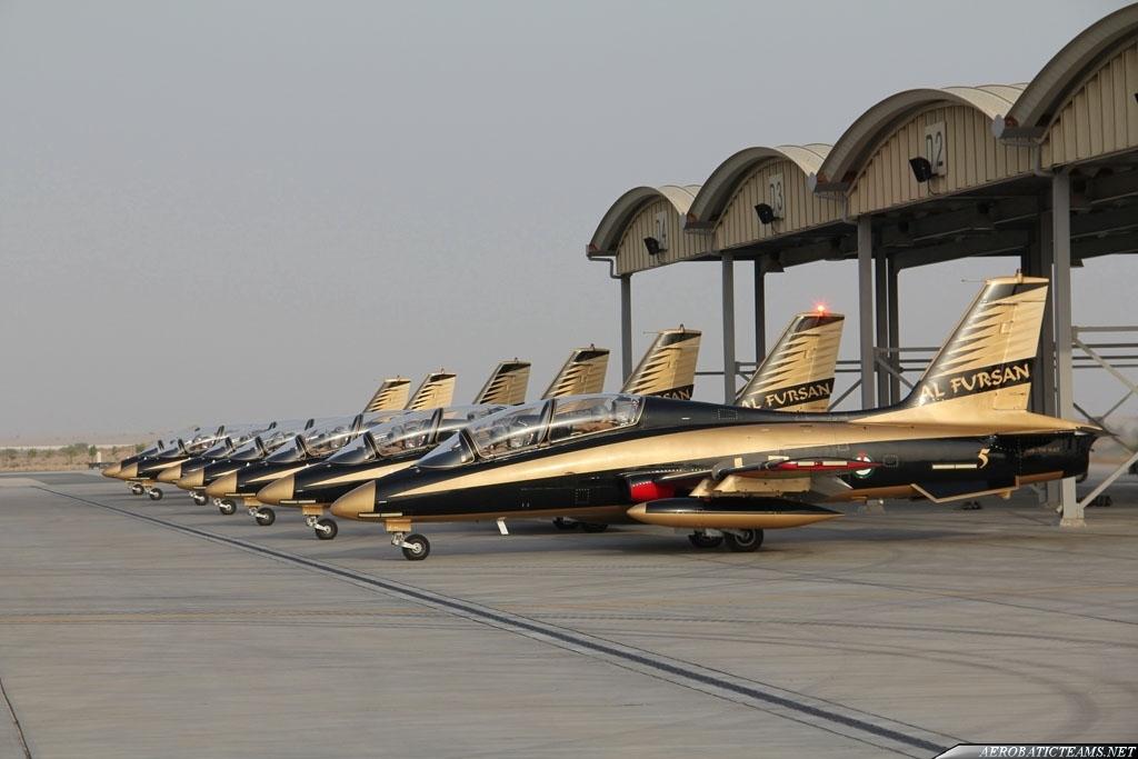 UAE Air Force Al Fursan display team first public demonstration
