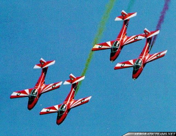 Cessna T-37 red paint scheme from 1972 to 1980