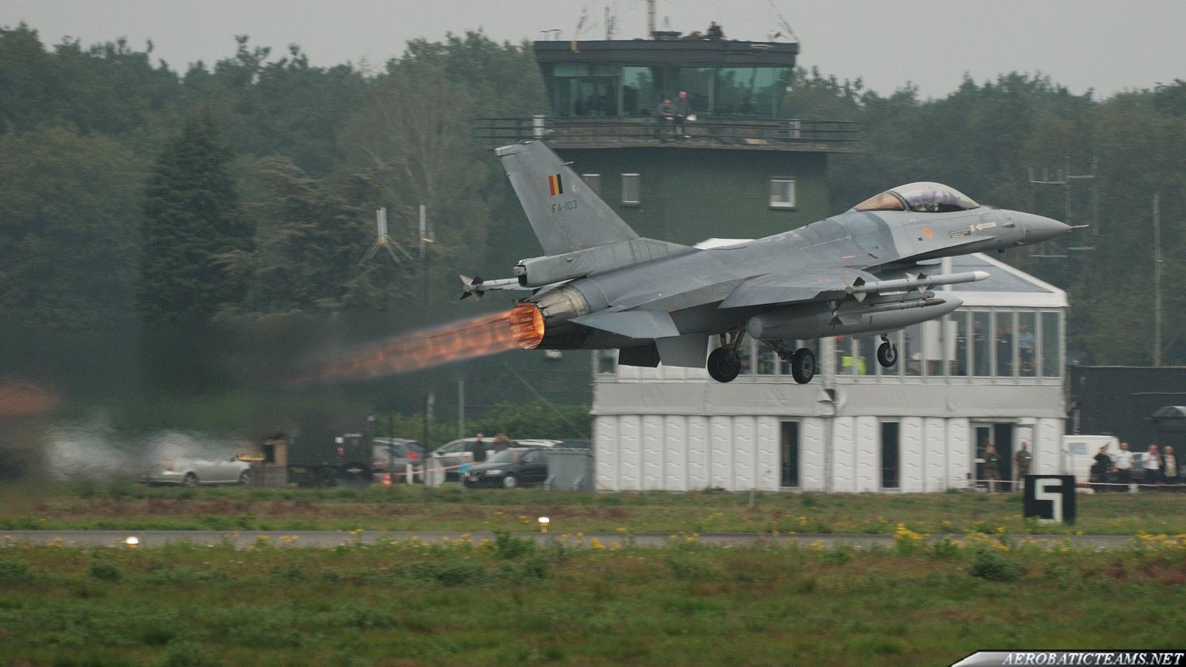Belgian Air Force F-16 Power Demo display