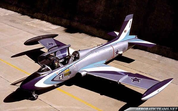 Silver Falcons MB-326 Impala Mk.I. 1994-95 paint scheme