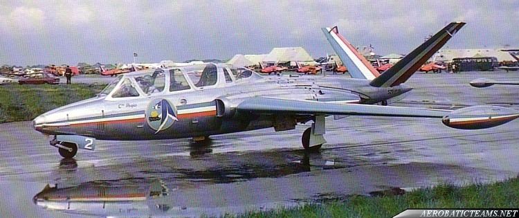 Patrouille De France Fouga Magister first paint scheme