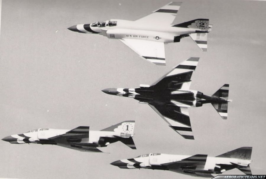 Thunderbirds F-4E Phantom II. USAF photo from Hawkeye's Hobbies collection