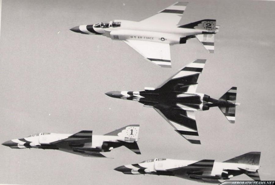 Thunderbirds F-4E Phantom II. USAF photo from Hawkeye's Hobbies collection