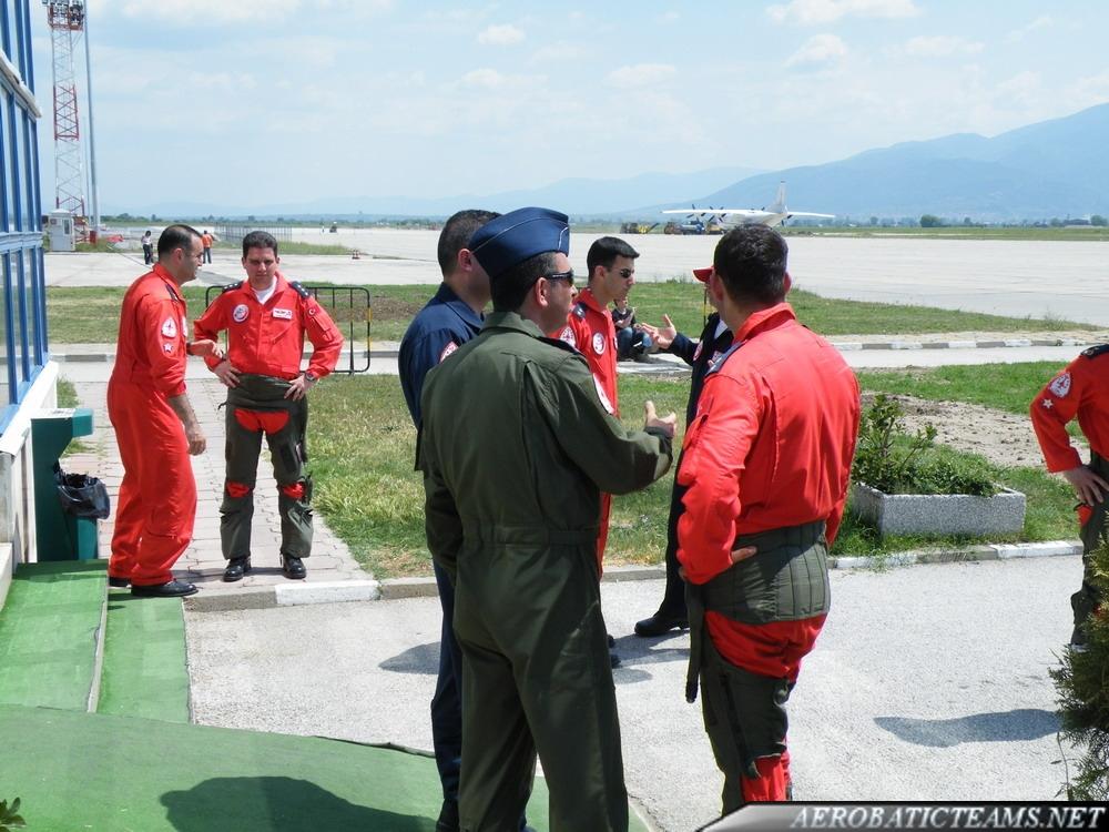Turkish Stars pilots after the practice flight