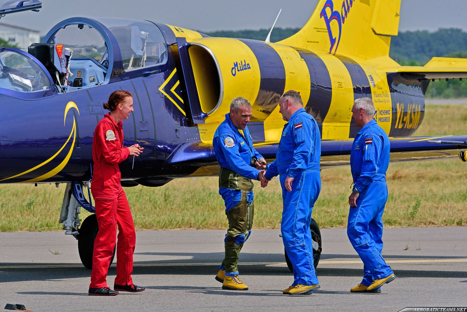 Baltic Bees pilots after the demonstration