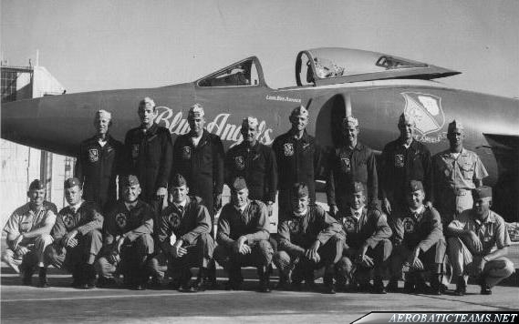 Blue Angels and Thunderbirds pilots, 1965