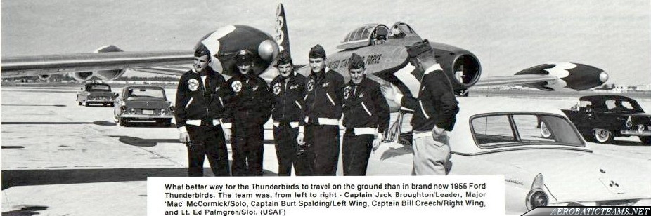 Thunderbirds F-84G Thunderjet pilots