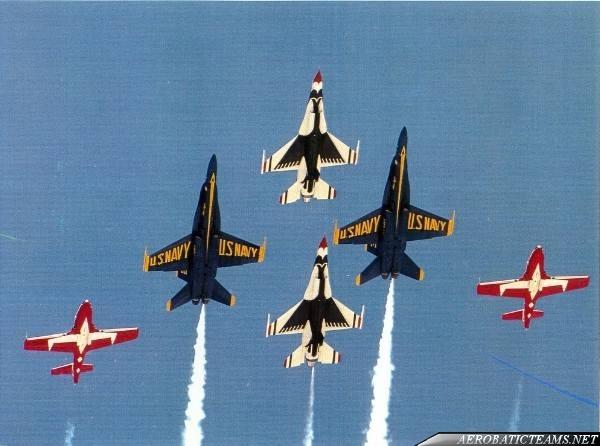Blue Angels, Thunderbirds and Snowbirds