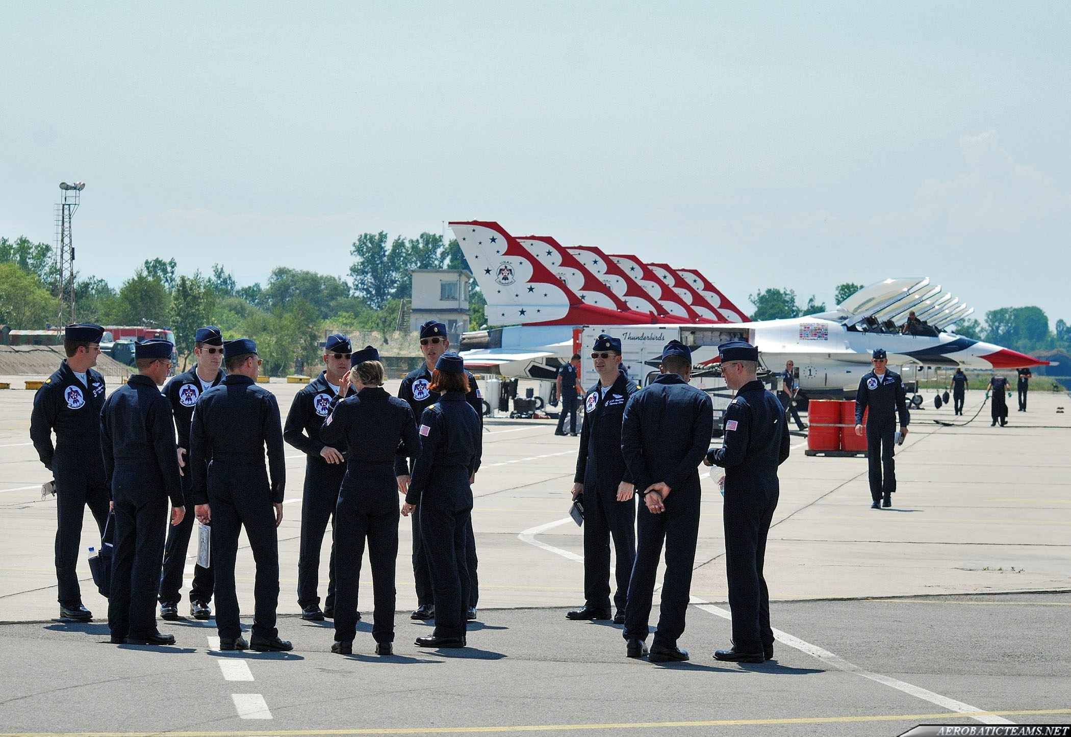 Thunderbirds pilots after flight