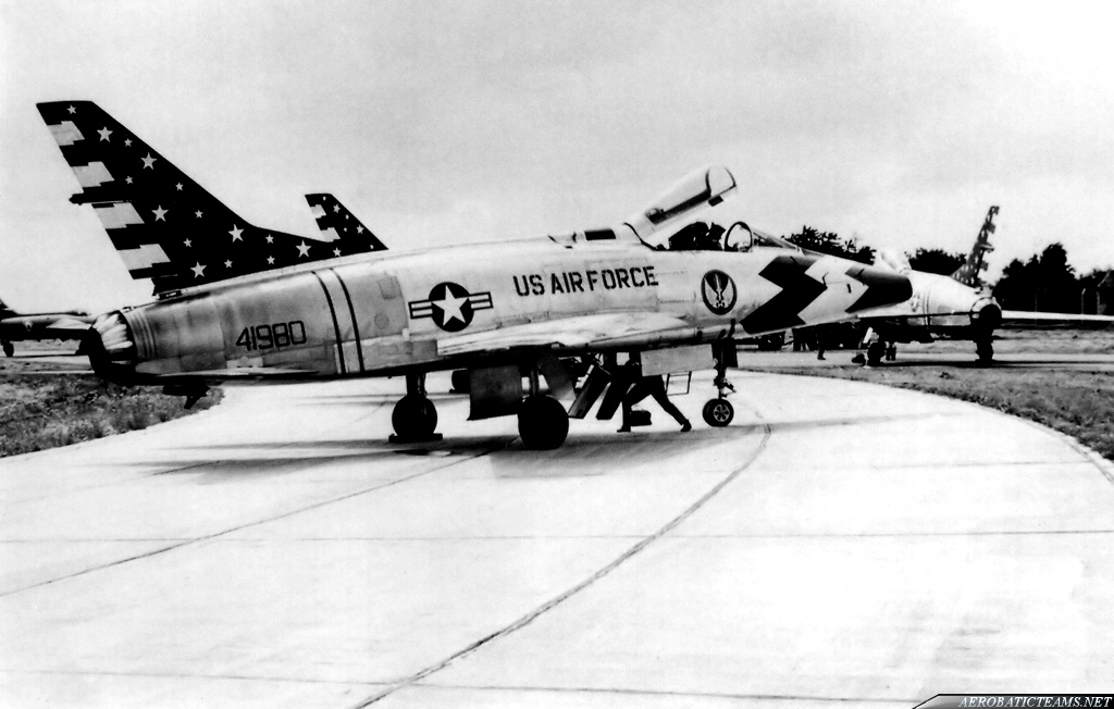 Skyblazers F-100C Super Sabre. Photo by Jean-Marie Hanon