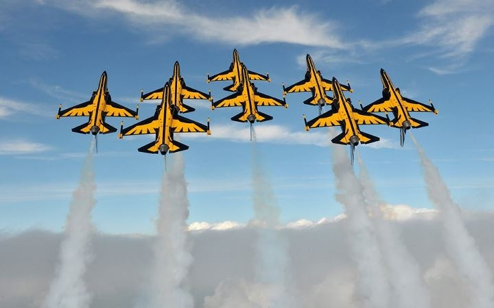 Black Eagles T-50 Golden Eagle present livery