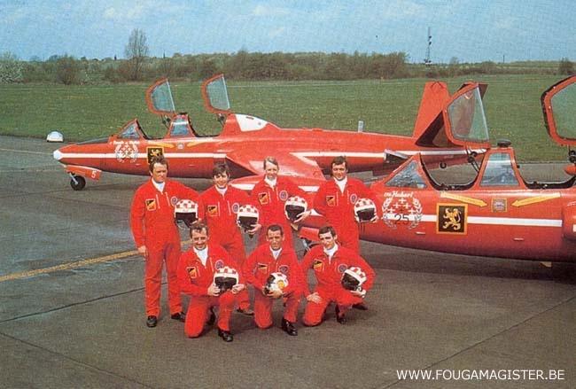Red Devils Fouga Magister pilots