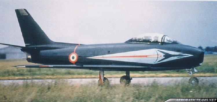 Frecce Tricolori Canadair CL-13 Sabre, first paint scheme